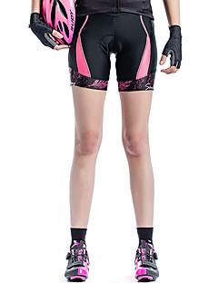 billige Sykkelklær-SANTIC Dame Fôrede sykkelshorts Sykkel Fôrede shorts Pustende Reaktivt Trykk Blå / Rosa Sykkelklær / Elastisk