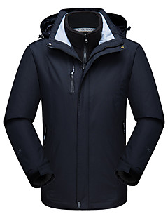 cheap Outdoor Clothing-DZRZVD® Men's Waterproof Hiking 3-in-1 Jacket outdoor Autumn / Fall Spring Winter Windproof Waterproof Rain-Proof Breathability Wearable Chinlon Jacket Waterproof Rain Proof Outdoor Exercise Back