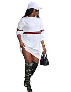 baratos Moletons com Capuz e Sem Capuz Femininos-Mulheres Solto Calças - Estampa Colorida Branco