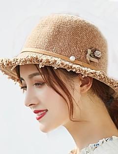billige Hatter til damer-Dame Aktiv / Grunnleggende Fedora / Solhatt Ensfarget