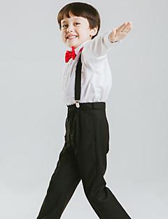 tanie Garnitury dla małych dróżbów-Biały Bawełna / Poliester Garnitur dla małego drużby - 4 szt. Zawiera Koszula / Spodnie / Muszka