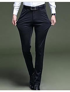 billige Herrebukser og -shorts-menns slanke chinosbukser - solidfarget svart 29