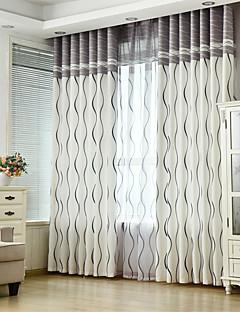 baratos Cortinas Personalizadas-Sob Medida Poupança de Energia Cortinas cortinas Dois Painéis 2*(W183cm×L213cm) / Quarto