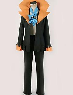 """billige Anime Kostymer-Inspirert av One Piece Brook Anime  """"Cosplay-kostymer"""" Cosplay Klær Ensfarget Topp / Bukser / Mer Tilbehør Til Herre / Dame"""