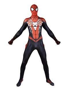 billige Zentai-Zentai Drakter Superhelter Zentai Cosplay-kostymer Svart Trykt mønster Trikot / Heldraktskostymer Zentai Elastan Unisex Jul Nytt År Maskerade