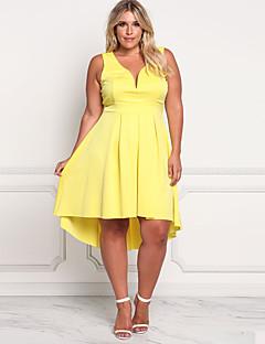 tanie Kolekcja Plus Size-Damskie Podstawowy Pochwa Sukienka Do kolan