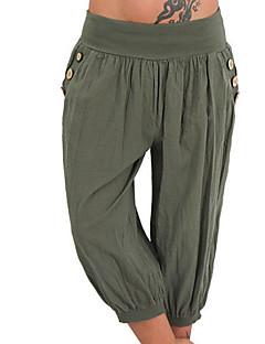 billige Bukser og skjørt til damer-Dame Grunnleggende Chinos Bukser Ensfarget