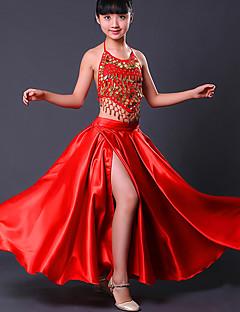 billige Nyheter-Latin Dans Bunner / Flamenco Jente Ytelse Spandex Ruchiing Levert Skjørt