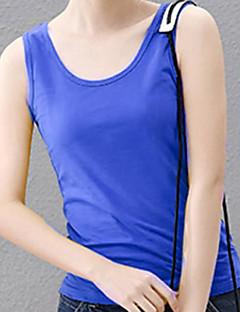 baratos Camisetas para Trilhas-Mulheres Camiseta de Trilha ao ar livre Verão Leve Secagem Rápida Respirabilidade Redutor de Suor POLY Colete Acampar e Caminhar Campismo / Escursão / Espeleologismo Viajar Azul