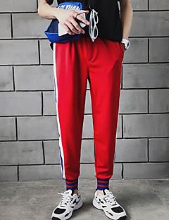 billige Herrebukser og -shorts-menns pluss størrelse chinos bukser - fargeblokk rød