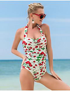 billige Bikinier og damemote-Dame Beige Cheeky En del Badetøy - Frukt L XL XXL