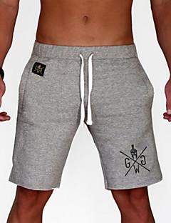 billige Herrebukser og -shorts-Herre Grunnleggende Shorts Bukser Bokstaver