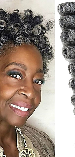 cheap -Braiding Hair Bouncy Curl / Saniya Curl Twist Braids / Pre-loop Crochet Braids Synthetic Hair / 100% kanekalon hair / Kanekalon 20 roots / pack Hair Braids Ombre 10 inch Short Event / Party
