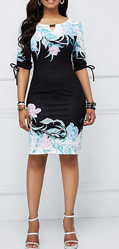 זול -שמלת גוף לאורך הברך, שמלה שחורה