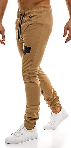 abordables -Homme Ceinture élastique Pantalon Jogger Des sports Bloc de Couleur Coton Bas Fitness Tenues de Sport Séchage rapide Doux Elastique Ample