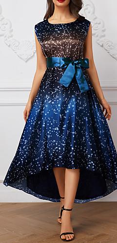 זול -א-סימטרי מנוקד - שמלה סווינג אלגנטית בגדי ריקוד נשים