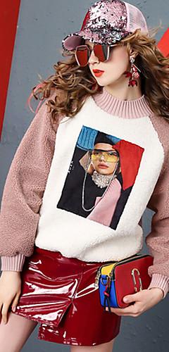 ieftine -Pentru femei Casual Hanorca Portret