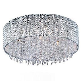 povoljno Lámpatestek-QINGMING® 10-Light Flush Mount Golden Crystal, Bulb Included 110-120V / 220-240V Bulb Included / G9