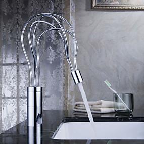 billige Sprinkle®-kraner-Moderne  with  Krom Enkelt Håndtak Et Hull  ,  Trekk  for Senter-sett