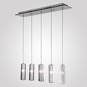 cheap Pendant Lights-MAISHANG® 5-Light Cluster Pendant Light Downlight Chrome Metal Crystal 110V / 110-120V / 220-240V Bulb Not Included / G4