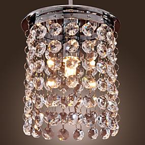 abordables Plafonniers-Mini Lampe suspendue Lumière dirigée vers le bas Plaqué Cristal, Style mini 110-120V / 220-240V Ampoule incluse / G9