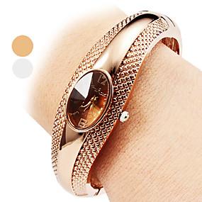 povoljno -0.3-Žene dame Luxury Watches Narukvica Pogledajte Kvarc Srebro / Bronca Casual sat Analog Ležerne prilike Okrugla Moda Elegantno - Pink Bronza