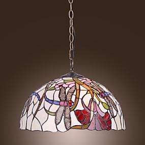 abordables Lampe Tiffany-ERFTSTADT - Lustre Tiffany Florale - 2 slots à ampoule