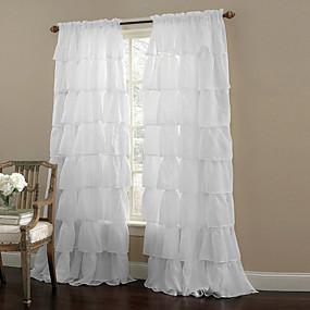 ราคาถูก ผ้าม่าน-ที่ทันสมัย เฉดสีผ้าม่านเชียร์ หนึ่งช่อง ห้องนอน   Curtains / Living Room