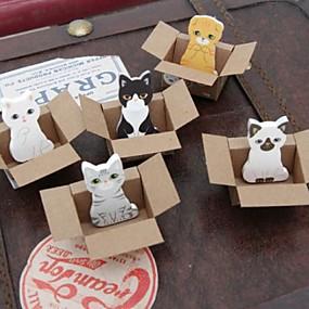 ราคาถูก สำนักงานจัดหาและตกแต่ง-ของเล่นสัตว์กล่องขนาดเล็กบันทึกตัวเองติด (สีสุ่ม)