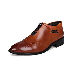 voordelige Wijdere maten schoenen-Heren Comfort schoenen Leer Lente / Herfst Loafers & Slip-Ons Wit / Bruin / Toimisto & ura / EU40