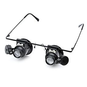 povoljno Edukativne igračke-Mikroskopi Povečala Povećalo za naočale Stručni Razina Objektiv s LED svjetlom Klasični Reciklirani papir ABS Klasik Djeca Dječaci Djevojčice Igračke za kućne ljubimce Poklon