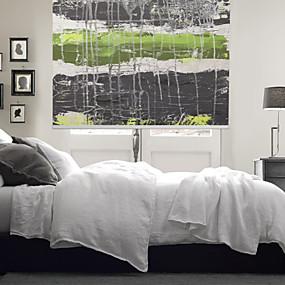 povoljno Sjenila-Artistic Dreamlike Style Green & Dark Grey Rope Roller Shade