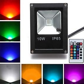 halpa Valonheittimet-1kpl 10 W 800 lm 1 LED-helmet Teho-LED Kauko-ohjattava RGB 85-265 V