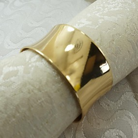 povoljno Stolno rublje-Legura Prsten za ubrus Patterned Eco-friendly Dekoracije stolova 12 pcs