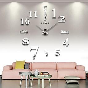 3df6a8f02 فرملس ساعة الحائط الكبيرة ديي ، الحديث 3d ساعة الحائط مع الأرقام مرآة  ملصقات للمنزل مكتب ديكورات هدية