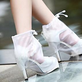 baratos Capas para Sapatos-2pçs Gel Protetor de Sapatos Mulheres Todas as Estações Casual Branco