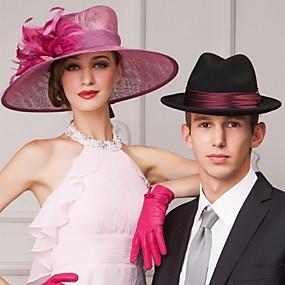 povoljno Kentucky Derby Hat-popularni lana žene na otvorenom / banket / povremeni / travelings kape s perjem