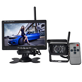 povoljno Stražnja kamera za auto-7-inčni monitor 170 ° HD bus car Stražnja kamera + bus high-definition širokokutni vodootporna cmd kamere
