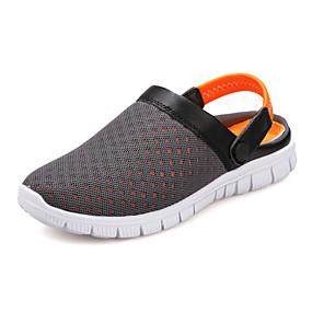 baratos Tamancos Masculinos-Homens Materiais Customizados / Tule Primavera / Verão Buraco Shoes Tamancos e Mules Preto / Azul Escuro / Cinzento