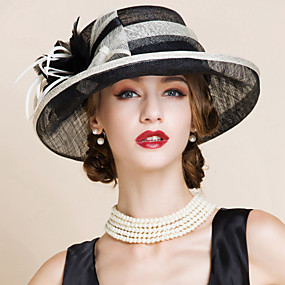 baratos Kentucky Derby Hat-Mulheres Festa Cloche Estampa Colorida