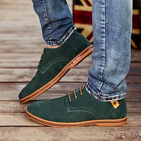 baratos Oxfords Masculinos-Homens Sapatos de Condução Couro Sintético Primavera / Verão Conforto Oxfords Azul / Camel / Khaki / Festas & Noite