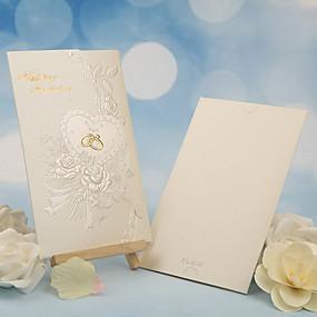 economico Regali per feste-Piegato in tre Inviti di nozze Altro Invito Cards Classico Materiale Carta perlata Floreale