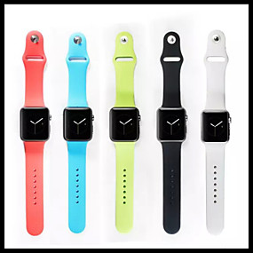 billige Smartwatch Bands-Urrem for Apple Watch Series 4/3/2/1 Apple Sportsrem Silikone Håndledsrem