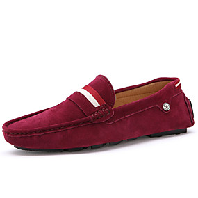 932dd7acc Men s Comfort Shoes Suede Spring   Fall British Loafers   Slip-Ons Brown    Red   Blue