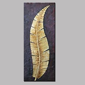 levne Abstraktní malby-Hang-malované olejomalba Ručně malované - Abstraktní Krajina Květinový / Botanický motiv Moderní Obsahovat vnitřní rám / Reprodukce plátna
