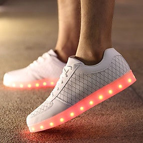 e00b8ef24d16 Men s Light Up Shoes Leather Spring   Fall Comfort Slip Resistant White