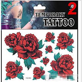 cheap Temporary Tattoos-1 pcs Glitter / Non Toxic / Pattern Temporary Tattoos Totem Series / Animal Series / Flower Series Glitter Shine Body Arts Face / Body / Hand / Lower Back / Waterproof
