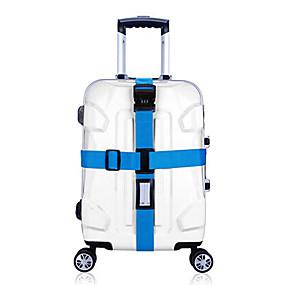 tanie Akcesoria podróżnicze i bagażowe-1 szt. Podróżny pas bagażowy / Zamek szyfrowy Regulowany / Akcesoria do walizek / Trwały na Regulowany / Akcesoria do walizek / Trwały Niebieski / Różowy / Tęczowy