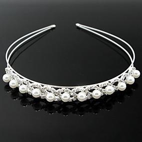 baratos Tiaras-Imitação de Pérola / Liga Headbands com 1 Casamento / Ocasião Especial Capacete