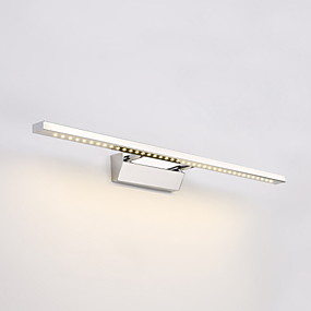 billige Vanity-lamper-maks 9w moderne moderne led vegg lys bad speil washroon vegg lampe inventar rustfritt stål